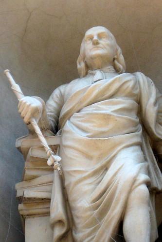 Philadelphia - Old City: Library Hall - Benjamin Franklin