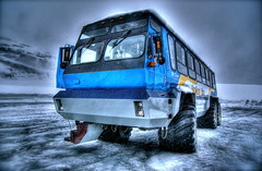 Ice Explorer on the Athabasca Glacier (elementalPaul) Tags: snow canada cold bus ice rockies pentax glacier explore alberta pro freehand hdr jaspernationalpark banffnationalpark columbiaicefield athabascaglacier brewsters iceexplorer photomatix snowcoach 5xp k10d pentaxk10d