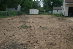 Yard after digging