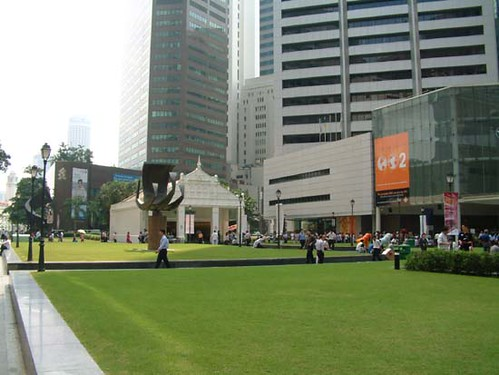 Raffles Place open space