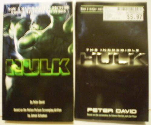 Hulk movie books