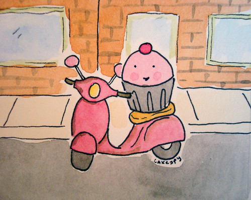 Cuppie on Vespa