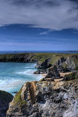 Bedruthan Steps 2 (Nala Rewop) Tags: blue sea sky beach coast sand rocks cornwall skies stacks bedruthansteps aplusphoto