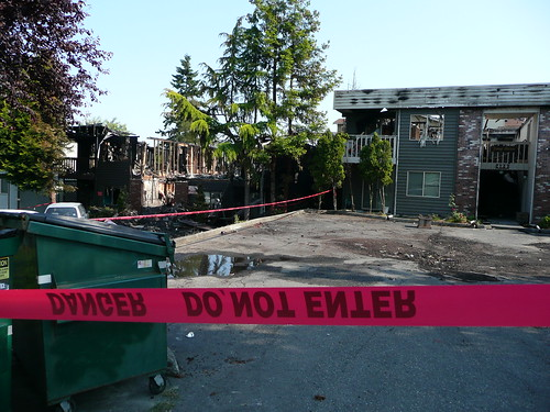 Scene of the tragic June 29th arson