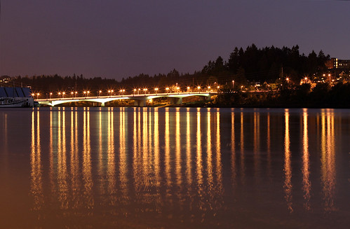 Budd Bay 4th Avenue Bridge Lights