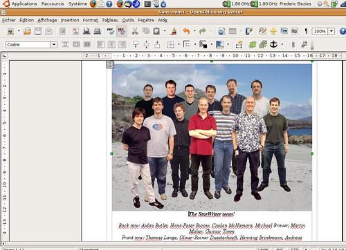L'équipe d'OpenOffice.org Writer