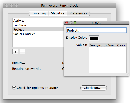 Pennyworth Punch Clock: Stream Editor