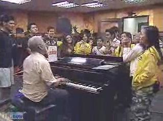 7-20-08 headmaster with the scholars in the piano room3