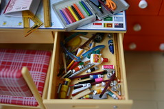 My drawer actually looks like this.. (lili_mini) Tags: art toys miniatures desk supplies rement stationary