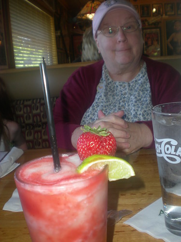 Strawberry Margarita and Nana!