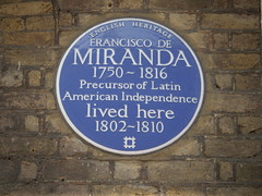 Photo of Francisco De Miranda blue plaque