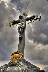 Charles Bridge - Prague (trickyd3) Tags: christ prague crucifix charlesbridge