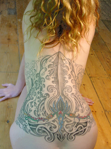 Picture of Female Back Tattoo