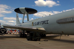 AWACS side (this.is.madness!) Tags: show blue sky public america plane army nose us fighter rj open force power aircraft military air united crowd navy jet engine f16 week omaha f22 states thunderbirds patriot patriotism bomber pilot tanker c5 kc10 awacs kc135 offutt rc135