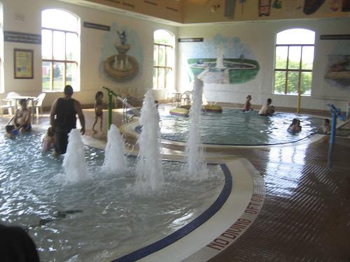 the pool area at the Bavarian Inn