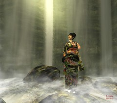 The World of Mist (Rena Sakai) Tags: water japan japanese haiku avatar buddhism sl secondlife zen kimono sakai rena straylight