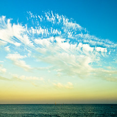 Cloudy sky at late afternoon (manganite) Tags: ocean california blue sunset sea summer sky orange usa seascape color nature topf25 colors yellow santabarbara clouds digital america square geotagged evening harbor pier topf50 nikon colorful warm waves afternoon seasons pacific tl dusk d200 nikkor dslr 18200mmf3556 utatafeature manganite nikonstunninggallery anawesomeshot repost1 date:year=2008 date:month=july date:day=22 geo:lat=34408034 geo:lon=119684919 format:orientation=square format:ratio=11 repost2