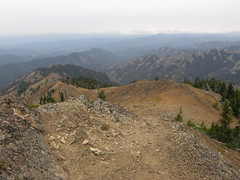 Views leaving Miller Peak summit.
