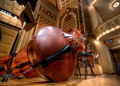 bass at intermission - HDR (haglundc) Tags: ohio music season bass cincinnati double explore violin classical intermission 2008 musichall symphony hdr doublebass photomatrix