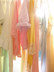 hand washables (missamyrene) Tags: sun sunlight colors vintage lace clothes handwash nightie linedry theworldinpink