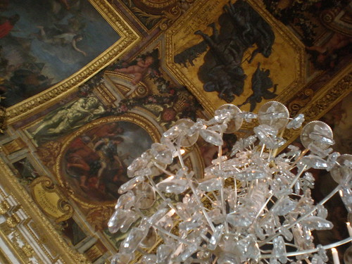 Versailles ceiling with chandelier