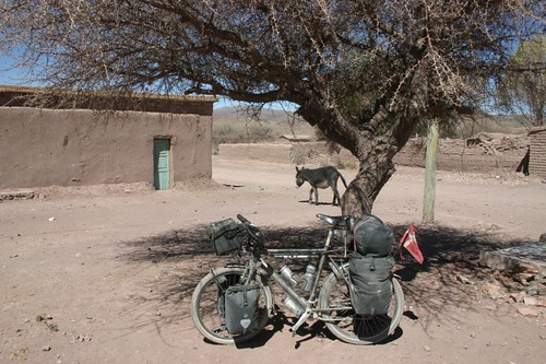 Lunch break in a god-forsaken and windy adobe village...40 km north of Tupiza