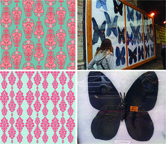 new brocade patterns and jeans butterfly