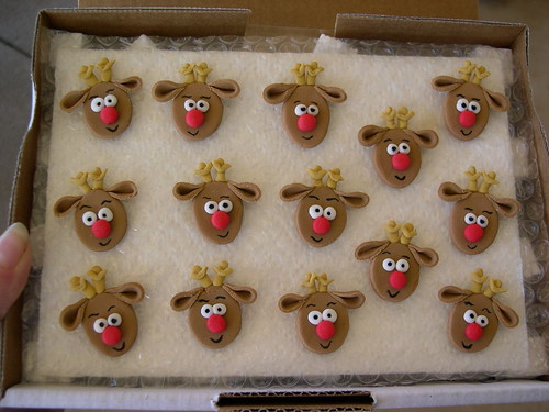 Queque Natal toppers Reindeer