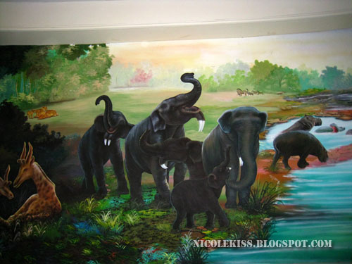 four-tusk elephants painting