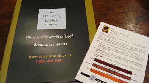 Oliver Ranch Artisan Beef Tasting