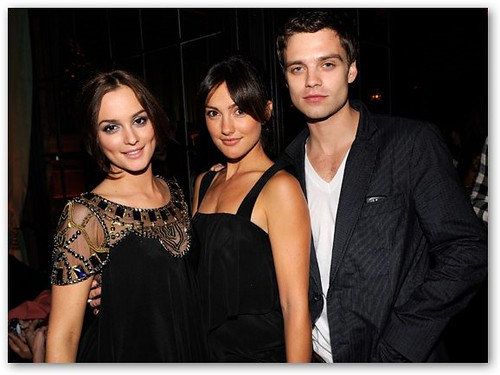 Leighton Meester, Sebastian Stan, & Friend