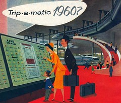 Trip-a-matic 1960? (The Pie Shops Collection) Tags: vintage ads advertising 1956 machines monorail thefuture 1960 generalmotors ballbearing aerotrain