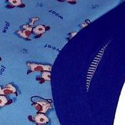 Puppies on Blue Medium Inspired Trainers *WAHM Stimulus*