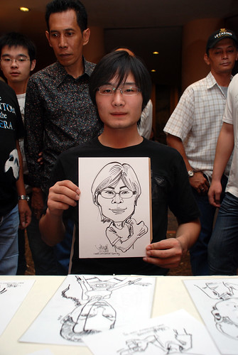 Caricature live sketching for Nippon Express Singapore Pte Ltd - 9