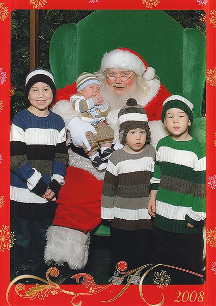 Boys with Santa
