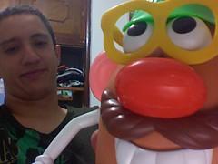 Mr Potato & I (bigMancho) Tags: xmas navidad photobooth oldskool regalo mrpotato juguete mancho
