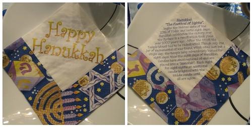Gorgeous Hanukkah napkins