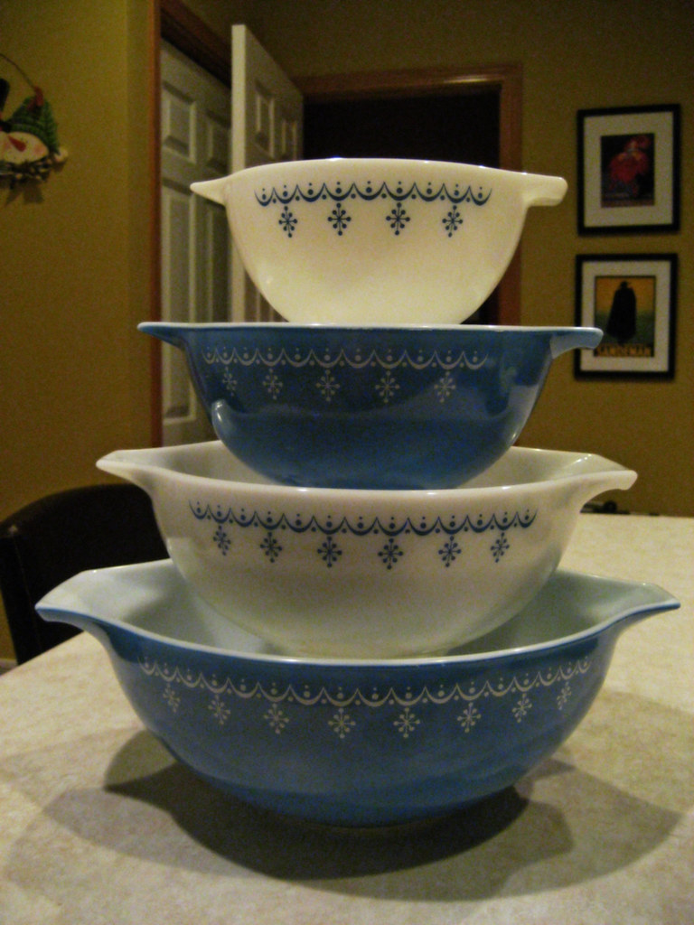 Snowflake Blue Cinderella Bowls