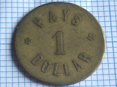 One Dollar Brass Plain Edge London Borneo Tobacco Company