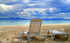 Waiting for Summer | Mallorca (*Arielle*) Tags: winter sea summer sky storm muro beach weather clouds landscape island mar sand chair mediterranean mediterraneo playa arena silla mallorca ts majorca platja arielle balearic balears beachchair playademuro ariellekristina