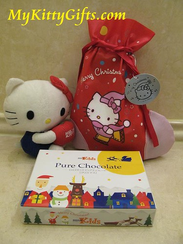 Hello Kitty Christmas Gifts in a Large Hello Kitty Christmas Stocking