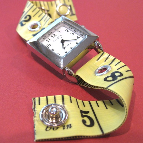 Tape Measure Watch in Bright Yellow