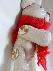 第一隻手縫泰迪熊。handmade bear