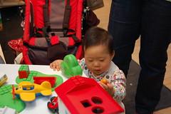 Aki playing playmobil