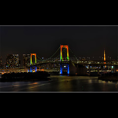 Happy New Year from Odaiba (YST (aka kryptos5)) Tags: japan tokyo illumination  tokyotower lightup  odaiba  rainbowbridge    tamronspaf1750mmf28xrdiiildasphericalif