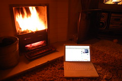 Macbook by the fire