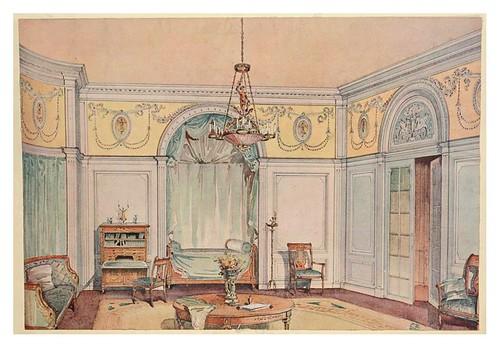 014- Dormitorio estilo Directorio-acuarela 1907