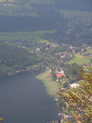 Вид на Aussee с высоты