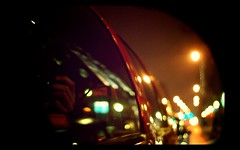 Flashing Lights (Cody Bralts) Tags: car fog self movie lights evening nikon vitamin