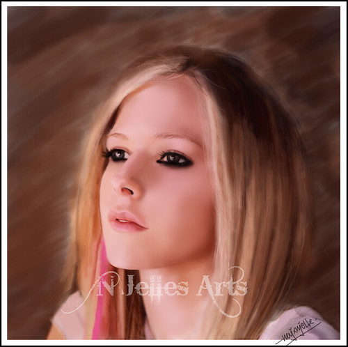 avril lavigne hair 2009. Avril Lavigne-Digital Drawing